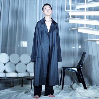 SUNSEA - ATHA for amanojak. silk/wool maxi coat