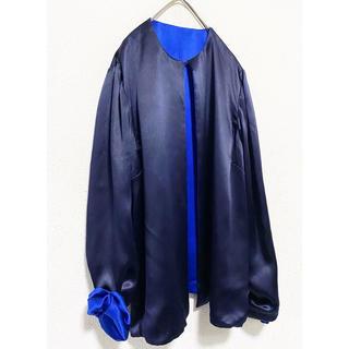トーガ(TOGA)のvintage レトロ リバーシブル サテン織 羽織り ジャケット ブルゾン(ブルゾン)