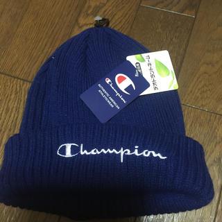 Champion - チャンピオン ニット帽 ネイビーブルー