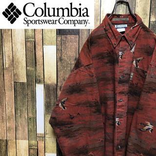 コロンビア(Columbia)の【激レア】コロンビア☆アニマル柄カモ柄総柄ビッグハンティングシャツ 90s(シャツ)