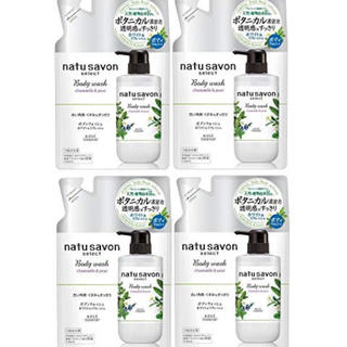 コーセーコスメポート(KOSE COSMEPORT)のnatu savon select ナチュザボン ボディウォッシュ 4袋セット(ボディソープ/石鹸)