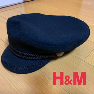 エイチアンドエム(H&M)のH&M★マリンキャップ★ネイビー★Mサイズ(キャスケット)