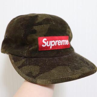 シュプリーム(Supreme)のsupreme cap キャップ コーデュロイ カモフラ 迷彩(キャップ)