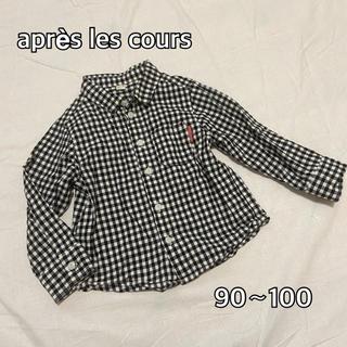 プティマイン(petit main)の【アプレレクール】90〜100 ギンガムチェックシャツ♡(Tシャツ/カットソー)