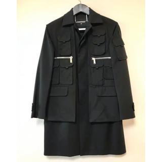 ディースクエアード(DSQUARED2)の美品 DSQUARED2 ウール ジャケットコート ブラック 42(M相当)(その他)