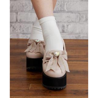 リズリサ(LIZ LISA)のリズリサ*厚底リボンローファー*ピンク(ローファー/革靴)