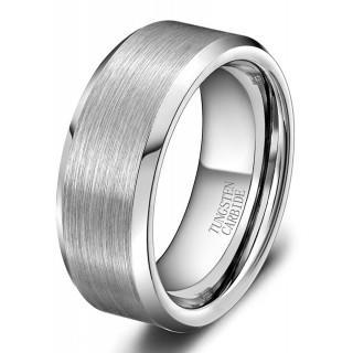 タングステン リング 幅 8mm メンズ 指輪 ヘアライン加工 シンプル カラー(リング(指輪))
