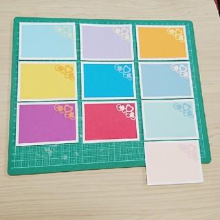 メッセージカード 10色×4枚40枚(カード/レター/ラッピング)