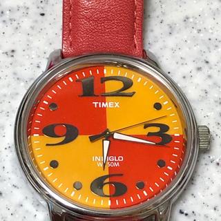 タイメックス(TIMEX)のかなり古いタイメックス カッコよくて可愛い ピンク バックライト✖️TIMEX(腕時計(アナログ))