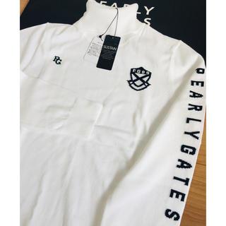 パーリーゲイツ(PEARLY GATES)の新品 パーリーゲイツ カシミアタッチセーター サイズL (5)白 PGロゴ(ニット/セーター)