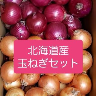 北海道産 玉ねぎ+ 赤玉ねぎ【アーリーレッド】 Mサイズセット(野菜)