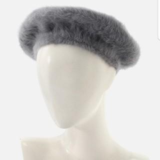 アズールバイマウジー(AZUL by moussy)の【新品】AZUL BY MOUSSY  シャギーベレー 灰色(ハンチング/ベレー帽)