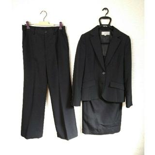 EMMAJAMES - スーツ リクルート 3点セット 黒 クロ パンツスーツ