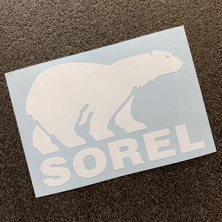 ソレル(SOREL)の白 SOREL ベアーモチーフ カッティングステッカー 送料無料 ソレル(その他)