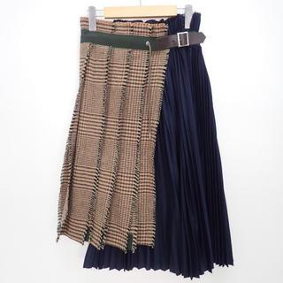 サカイ(sacai)のsacai 2018aw ラップスカート(ひざ丈スカート)