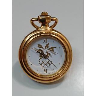 セイコー(SEIKO)の希少 SEIKO セイコー ピンバッチ型時計 懐中 アンティーク オリンピック(その他)