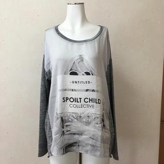 ザラ(ZARA)のプリントカットソー(Tシャツ/カットソー(七分/長袖))