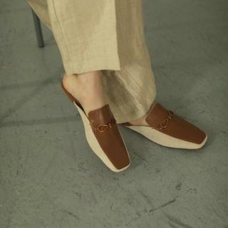 トゥデイフル(TODAYFUL)のキャンバスローファースリッパース(ローファー/革靴)