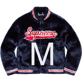 シュプリーム(Supreme)のMサイズ Supreme Faux Fur Varsity Jacket(毛皮/ファーコート)