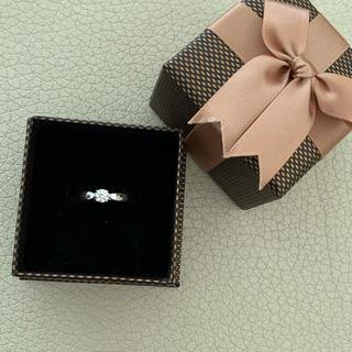 ティファニー(Tiffany & Co.)の美品❤️ ティファニー 一粒ダイヤモンド リング Pt950(リング(指輪))