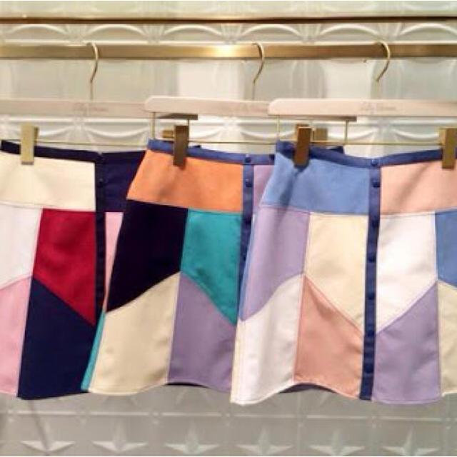Lily Brown(リリーブラウン)の即完売☆カラーパネル スカート  レディースのスカート(ミニスカート)の商品写真