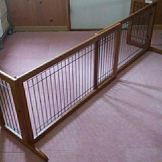 リッチェル(Richell)のリッチェル ペット用木製ゲート ワイド 幅101cm~181cm 高さ51cm(犬)