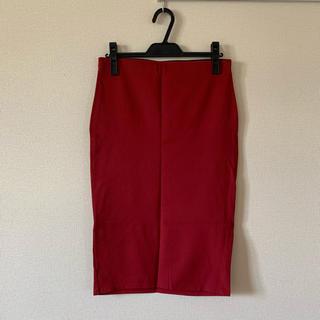 ザラ(ZARA)のZARA タイトスカート  赤(ひざ丈スカート)