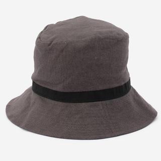 アクタス(ACTUS)の新品未使用 ACTUS オスティアハット リネンコットン グレー 帽子 アクタス(ハット)