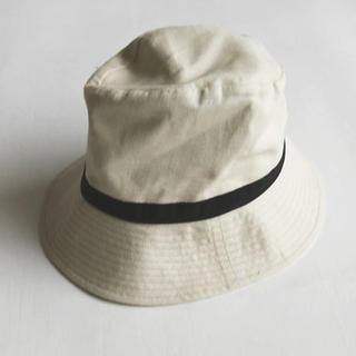 アクタス(ACTUS)の新品未使用 ACTUS オスティアハット リネンコットン ホワイト 帽子(ハット)