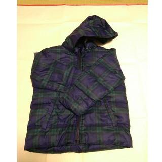 ムジルシリョウヒン(MUJI (無印良品))のダウンジャケット グリーン&ネイビー 120cm 無印良品(ジャケット/上着)