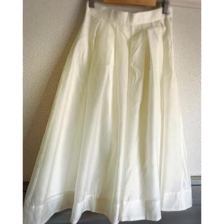 ドゥアルシーヴ(Doux archives)のホワイトシフォンスカート(ひざ丈スカート)