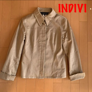 インディヴィ(INDIVI)のお値下げ❣️INDIVI インディヴィ ブラウン ジャケット 38(その他)