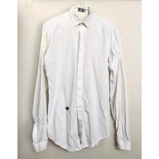 ディオールオム(DIOR HOMME)のディオールオム 長袖シャツ 37 白 サンローラン  エディスリマン(シャツ)