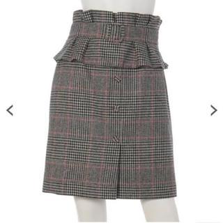 リランドチュール(Rirandture)のリランドチュール  ペプラムベルト付きチェックスカート(ひざ丈スカート)
