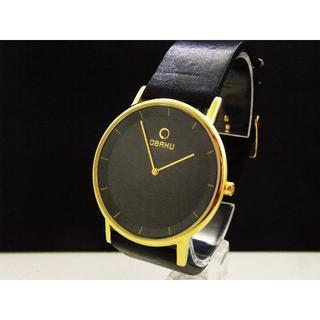 オバック(OBAKU)のOBAKU 腕時計 ブラック ラウンドフェイス (腕時計(アナログ))