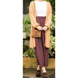 ショコラフィネローブ(chocol raffine robe)のドット柄ワイドパンツ(カジュアルパンツ)