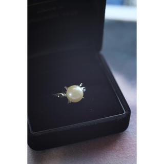 本真珠 8mm シルバーパールリング 16号(リング(指輪))