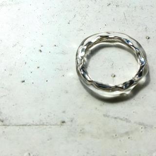 シルバー×クリア リング 約16〜17号(リング(指輪))
