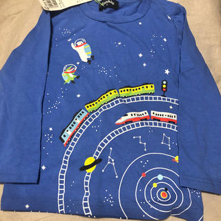 クレードスコープ(kladskap)の新品クレードスコープ●宇宙柄ロンT◯100cm(Tシャツ/カットソー)