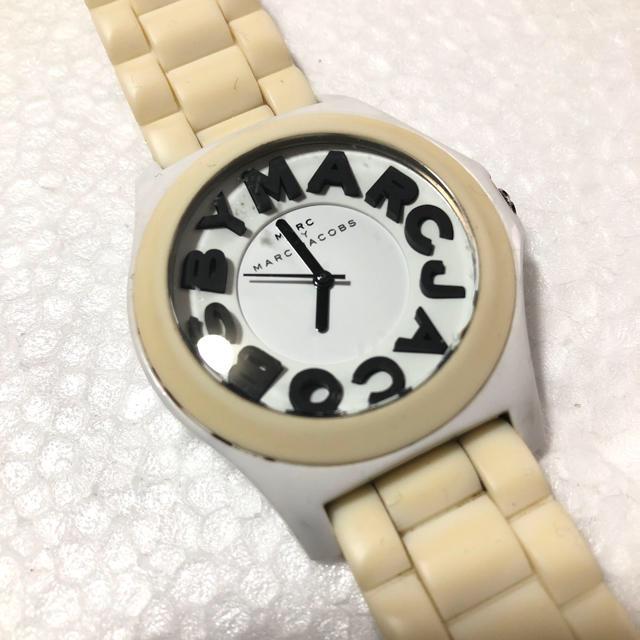 ロレックス 時計 レディース 楽天 | MARC JACOBS - マークバイマークジェイコブス 腕時計 ホワイト ロゴ クォーツ ラバー 稼働品の通販