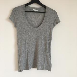 ジェームスパース(JAMES PERSE)のJAMES PERSE VネックTシャツ グレー サイズ0(Tシャツ(半袖/袖なし))