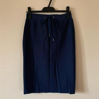 ジーユー(GU)のGU カジュアル スカート  ネイビー(ひざ丈スカート)