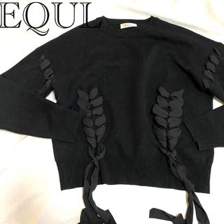 アンクルージュ(Ank Rouge)のEQUL ガーリーリボンニット(ニット/セーター)