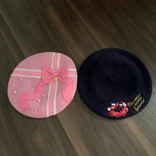 アンジェリックプリティー(Angelic Pretty)のAngelic pretty FANCYBOX ワッペンベレー帽(ハンチング/ベレー帽)