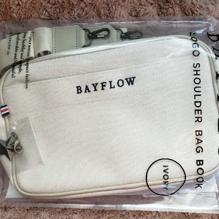 ベイフロー(BAYFLOW)の【未使用新品】BAYFLOW ベイフローローソン限定ショルダーバッグ アイボリー(ショルダーバッグ)