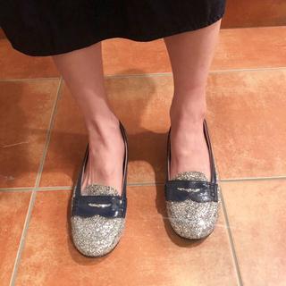 ユナイテッドアローズ(UNITED ARROWS)のsilver glitter shoes(ローファー/革靴)