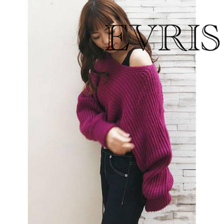 エヴリス(EVRIS)の新品EVRIS ニットプルオーバー ピンク(ニット/セーター)