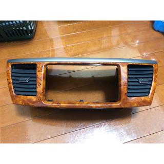 トヨタ(トヨタ)のセンターパネル オーディオパネル 茶木目 ウッド ヴォクシー ノア 60(車内アクセサリ)