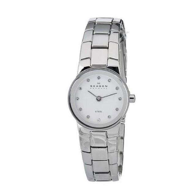 SKAGEN(スカーゲン)のスカーゲン 腕時計 ホワイトダイヤルスワロフスキーウォッチ クリスタルウォッチ レディースのファッション小物(腕時計)の商品写真