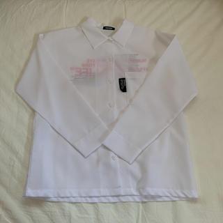 【新品】韓国 レタリングシャツ ホワイト(シャツ/ブラウス(長袖/七分))